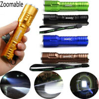 Flashlight Zoomable Focus 20000Lumens Tactical LED T6 LED Zoom 18650 Lamp Torch!