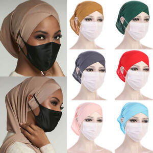 Muslim Turban Cancer Chemo Hat Hijab Hair Loss Cap Bandana Scarf Head Wrap Cover