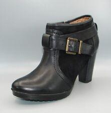 """""""MALPAS Dallas"""" Clark's Women/Ladies Black Leather Bottines Boots Size 5.5 D."""