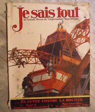 Magazine JE SAIS TOUT sciences populaire antique french mag 1928 rouille