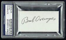 Robert Bob Overmyer (d. 1996) signed autograph 2x3.5 cut Astronaut Psa Slabbed