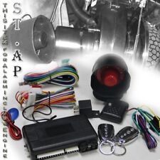 Jdm 2 Button Remote Engine Start Car Lock  Alarm Auto Security System Wiring Kit