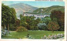 Monrovia,CA.,Pottenger Sanitarium,Main Bldg.San Gabriel Mts in Back,Used,1933