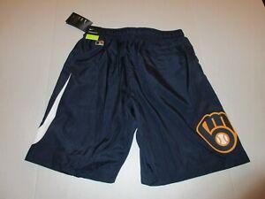 Mens Milwaukee Brewers Nike On Field Authentic Dri Fit Shorts M, L, XL, 3XL *NEW
