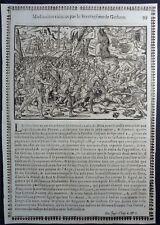 Gravures sur bois Woodcut print Jean Cousin Figures de la Sainte BIBLE Folio 99