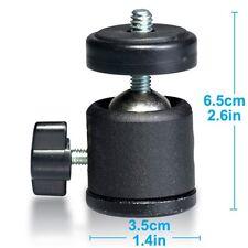 "Photo Mini Ball Head for Camera / Tripod Ballhead Stand w/ 1/4"" 3/8"" Thread, MK4"