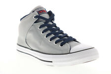Converse Mens Gray Canvas Lace Up Lifestyle Sneakers Shoes 9
