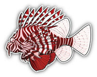 Lionfish Car Bumper Sticker Decal 5'' x 4''