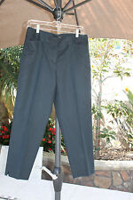 Grace Elements Womens Black Crop Capri pants 10