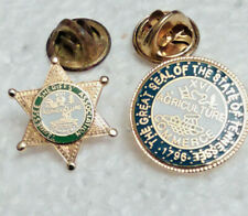 New listing 2 Tennessee Sheriff Ass'n Agriculture Commerce Mini Lapel Pins Badge lot of 2