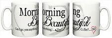 "Funny Romantic Mug ""Morning Beautiful"" Birthday Girlfriend Wife Christmas Gift"