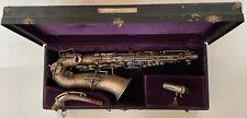 Buescher Saxophone Low Pitch True Tone, Silver w/ case