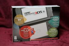 New Nintendo 3DS XL Launch Edition Black Handheld System Black