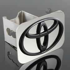 "TOYOTA Black Logo Stainless Hitch Cover Plug Cap For 2"" Trailer Tow Receiver"