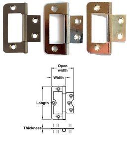 1 x 105 Flush hinge, steel, 50 x 24 mm, P Chrome, El Brassed, Florentine Bronzed