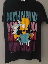 New listing Vintage 1991 Bart Simpson Bring On The Grits Man North Carolina Tshirt Med Black