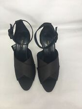 ZARA BLACK CROSSOVER SATIN SILK HIGH HEEL SANDALS SHOES SIZE UK 3 EU 36