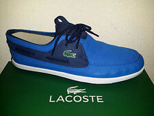 99e0fe592  95 NEW Mens 12 M Lacoste Landsailing Boat Shoes 316 3 Blue