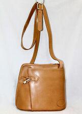 Vintage LONGCHAMP Tan Leather Toggle Crossbody Handbag