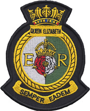 HMS Queen Elizabeth Royal Navy RN Surface Fleet Crest Mod Embroidered Patch