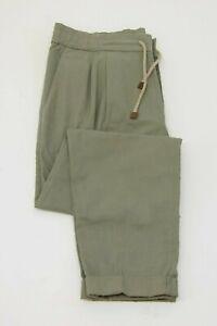 """NWT Brunello Cucinelli Men's """"Leisure Fit"""" Elastic Cotton Drawstring Pants  A211"""