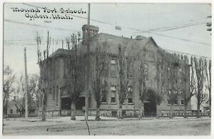 1911 Ogden, Utah - Mound Fort Schoolhouse Building - Vintage Postcard
