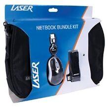 Laser Netbook Bundle Pack - Includes Bag, USB Hub, Mouse - Black