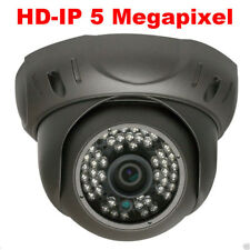 5Mp Hd 1920P Network PoE Dome Weatherproof Ip Security Camera 130Ft Ir System