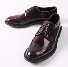 NIB $695 CANALI 1934 Polished Burgundy Bookbinder Wingtips US 8.5 D Shoes