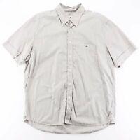 LACOSTE  Green Logo Short Sleeve Striped Shirt Mens XL