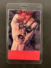 ALICE COOPER  BACK STAGE PASS LAMINATED