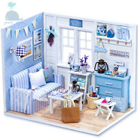 DIY Handcraft Miniature Project Dolls House Kit My Little Boys Living Room 2017