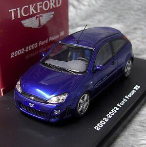 1:43 IXO Premium-X Tickford Ford Focus RS Mk1 2002-2003 Imperial Blue LHD
