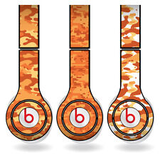 Removable Vinyl Decal - Beats Solo HD Skins - Orange Camouflage Print Set of 3