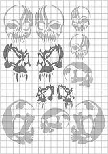 TRC8057 RC Body Paint Mask Super Skull 1 R/C Hobby Air Brush