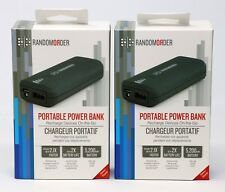 2-PACK (TWO) 5,000mAh Portable Power Bank Random Order SmartPhone Battery Pack