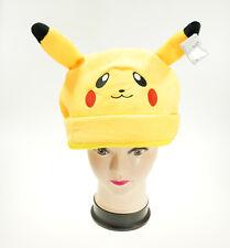 Pokemon Pikachu Cosplay Peluche Gorra Cálido Gorro Sombrero Disfraz Amarillo