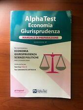 Alpha test Economia e Giurisprudenza nuova edizione 3^a