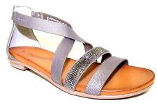 Flache Damen-Sandalen & -Badeschuhe aus Kunstleder elegante