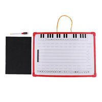 Music Notation Whiteboard Dry Erase Board with Music Staff Magnets 35x25cm