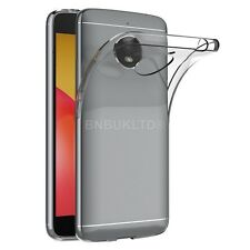 Clear Slim Gel Case and Glass Screen Protector for Motorola Moto E4 Plus