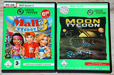 2 PC-SPIELE-SET - MALL TYCOON 3 + MOON TYCOON  --   Top-Games  -  XP