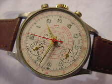 Vintage large antique WWII World War II MILITARY REGO CHRONOGRAPH mens watch NR