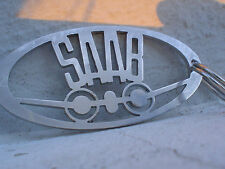 Saab Aircraft Logo Keychain 92 93 95 96 99 900 9000 9-3 9-5 in Stainless Steel