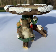 """Charming Tails """"Holly Day Dreams"""" Pillar Candle Holder Fitz and Floyd"""