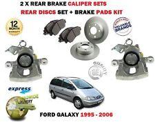 Für Ford Galaxy 1995-2006 2 X Hinten Links & Rechts Bremssattel & Scheibe & Pad