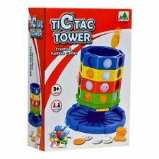 Tic Tac Creative Pattern Family Game Grid Chips Tower Children Toy Gift Set