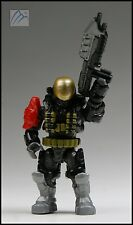 HALO CONSTRUX MEGA BLOKS UNSC SPARTAN EMILE W/ ASSAULT RIFLE MINI FIGURE