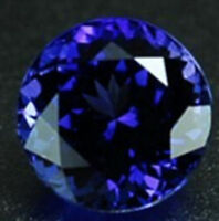 Blue Tanzanite 7.33ct Unheated 12mm Top Round Shape AAAAA VVS Loose Gemstones