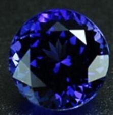 Blue Tanzanite 7.39ct Unheated 12mm Top Round Shape AAAA+Loose Gemstones